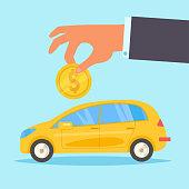 Loan for car Vector. Cartoon. Isolated art