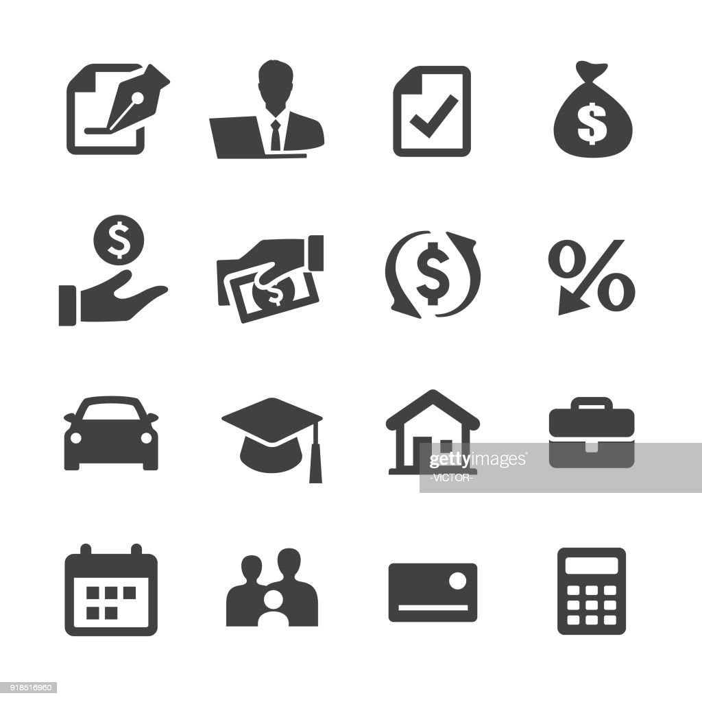Loan Icons - Acme Series : stock illustration