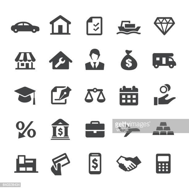loan icons - smart series - small business stock illustrations
