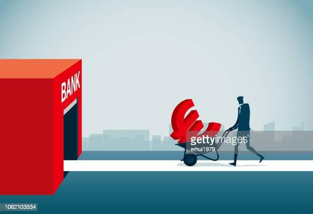 ilustrações de stock, clip art, desenhos animados e ícones de loan - unidade monetária da união europeia