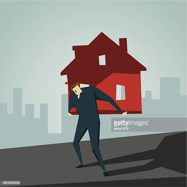 loan - subprime loan crisis stock illustrations