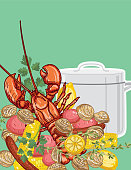 background template for lobster boil party