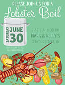 invitation template for lobster boil party