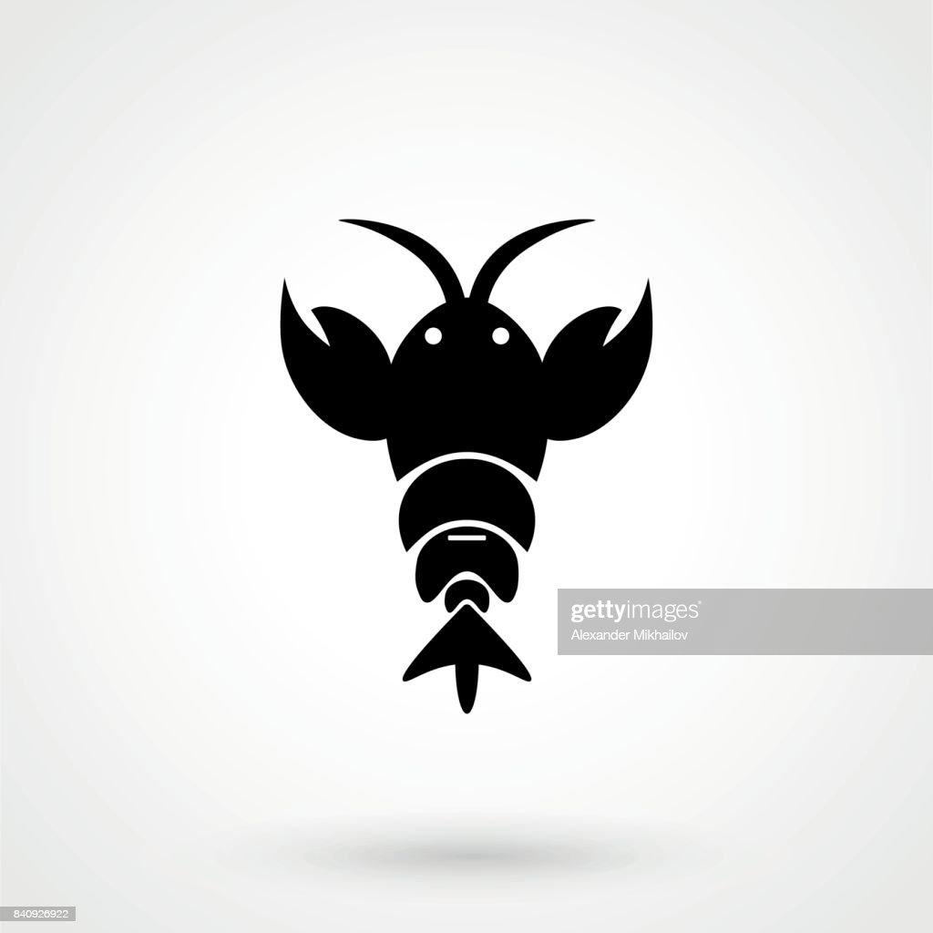lobster icon. lobster design