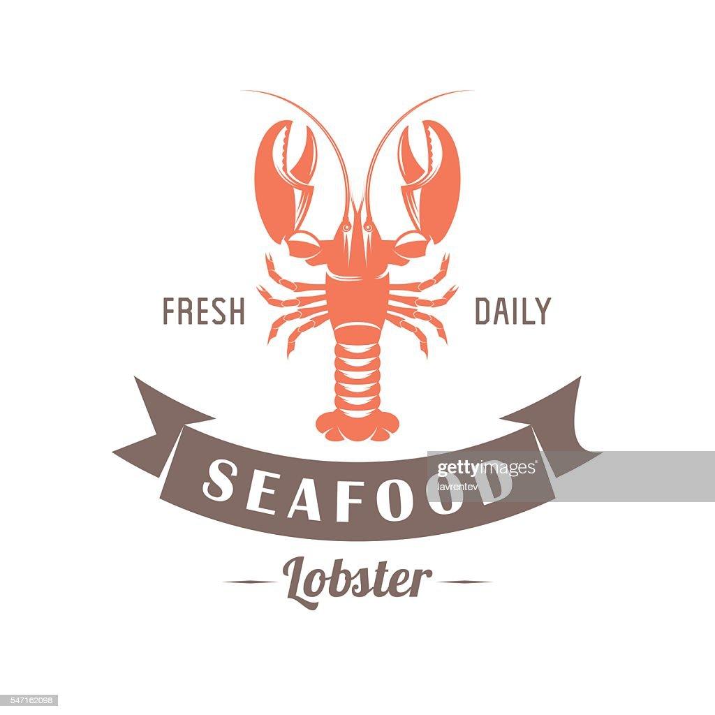 lobster vector emblem