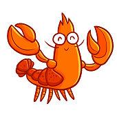 lobster waving it's hand