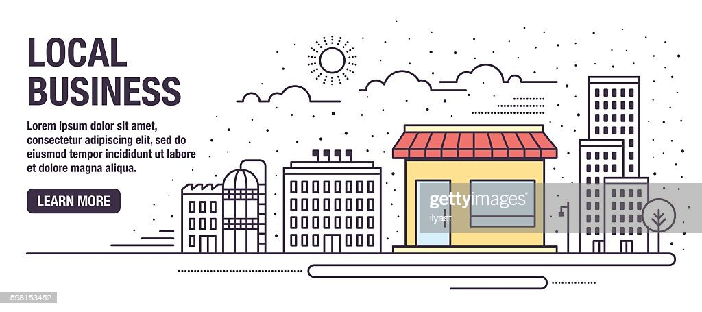 Local Business : Stock Illustration