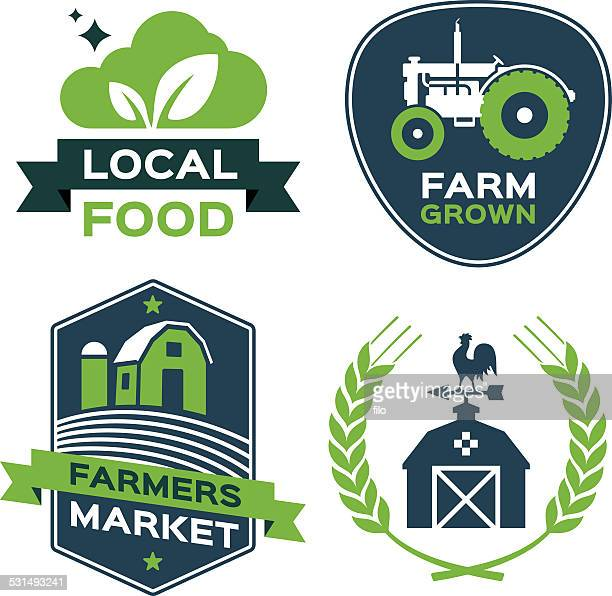 Local Food Farmers Market Symbols