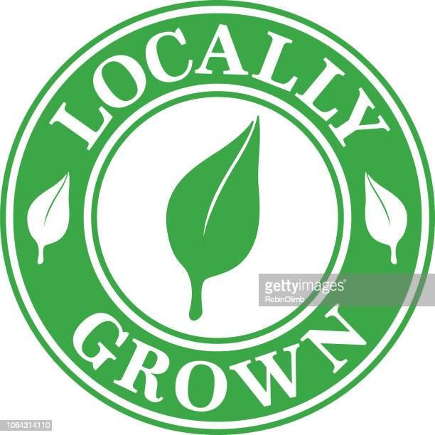 ilustrações, clipart, desenhos animados e ícones de etiqueta cultivada localmente - produto local