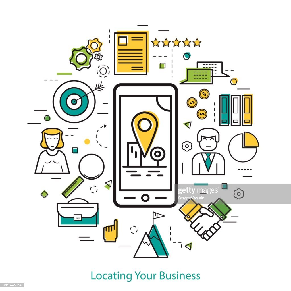 Locating Your Business - LineArt