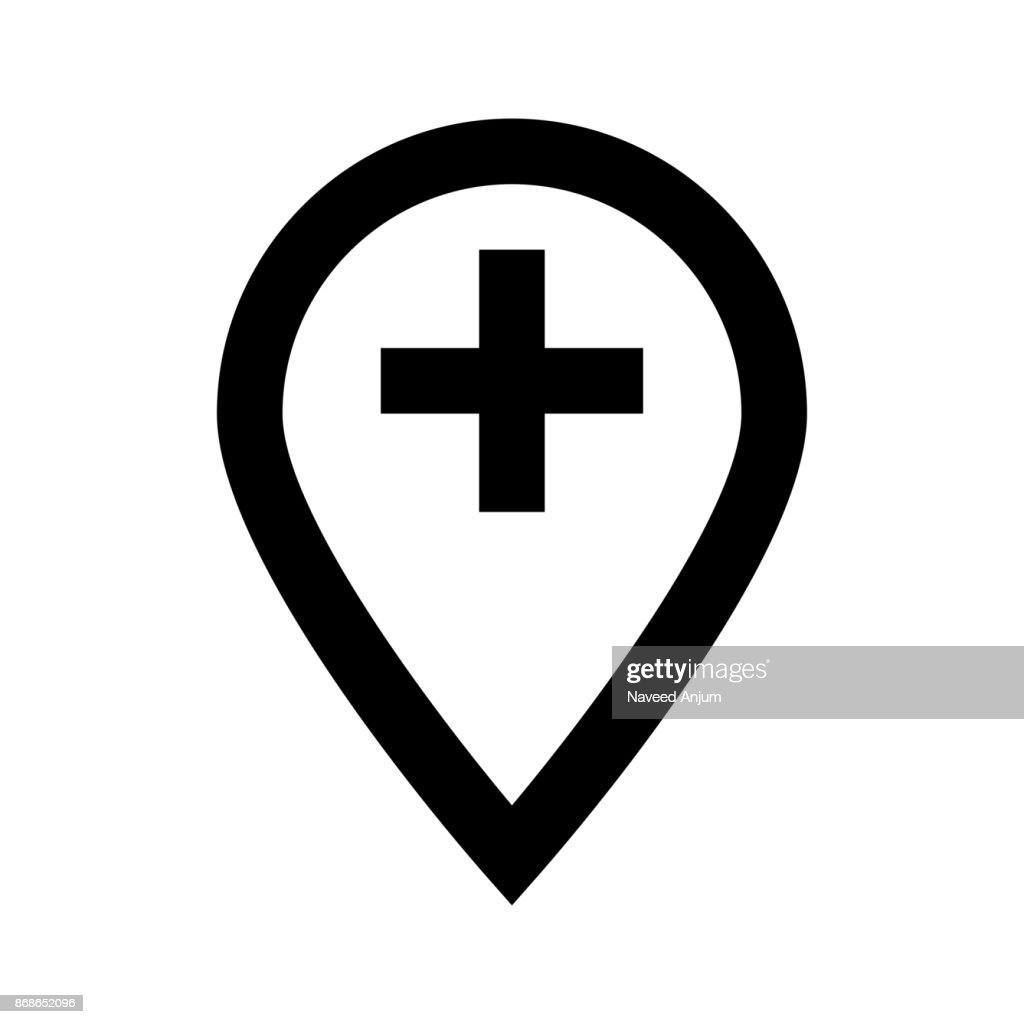 location add thin line vector icon