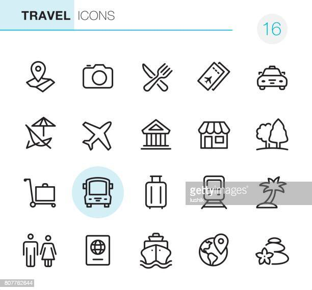 Location and Travel - Pixel Perfect icons