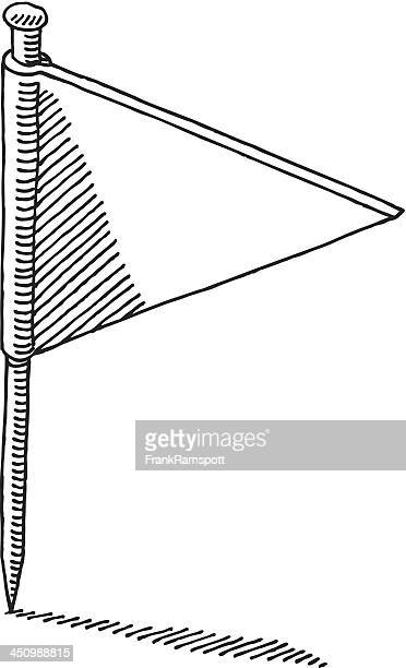 Lage Fahne Pin Zeichnung