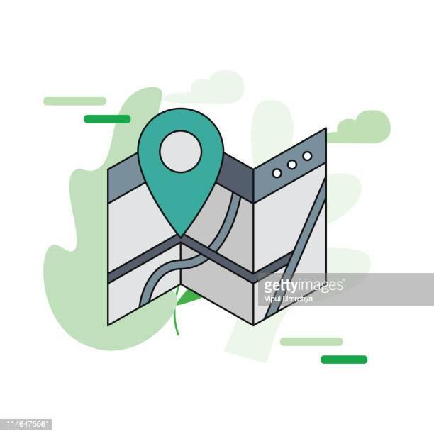 location icon - putting stock illustrations