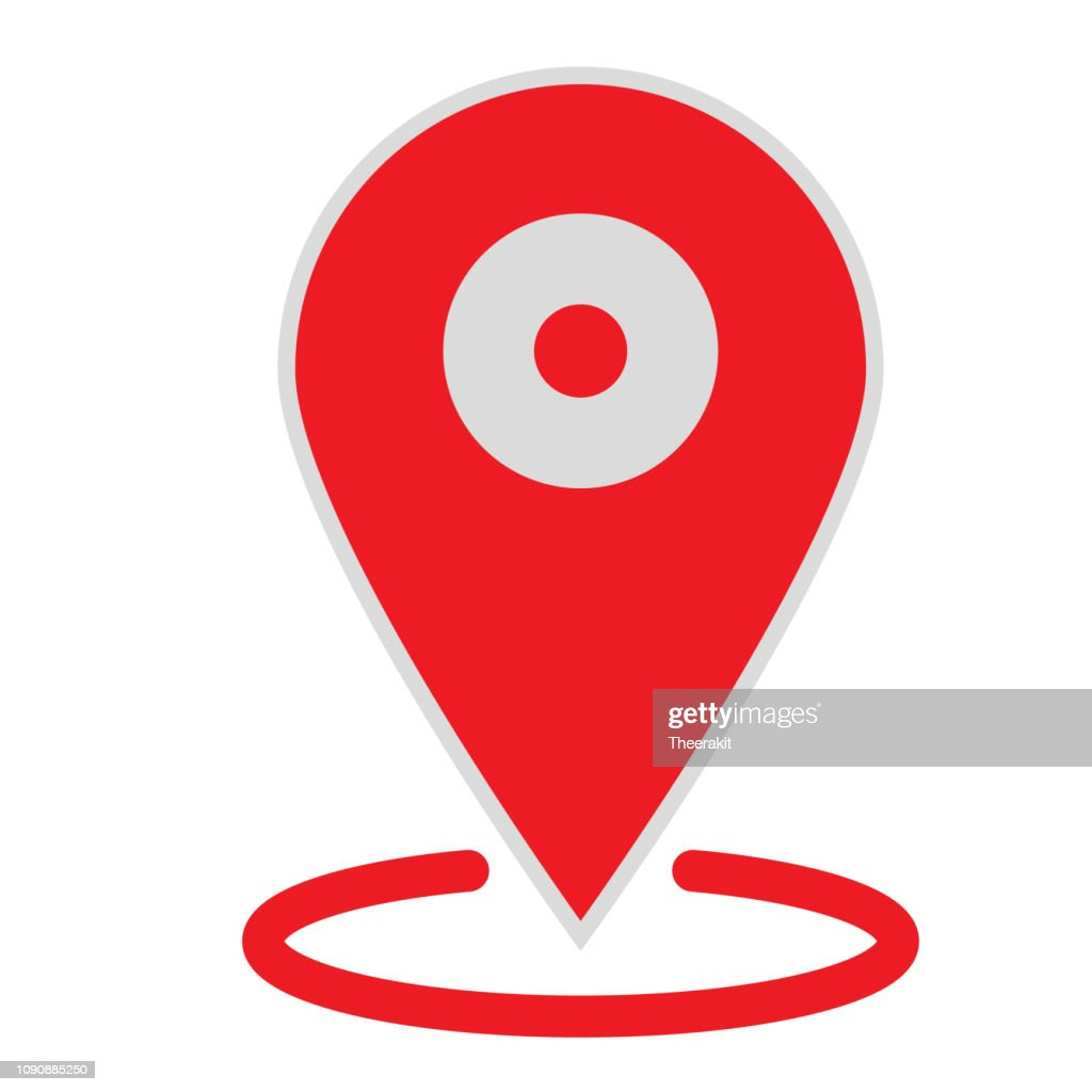 location map icon on white background. flat style. location map icon for your web site design, logo, app, UI. gps pointer mark symbol. gps pointer mark sign.