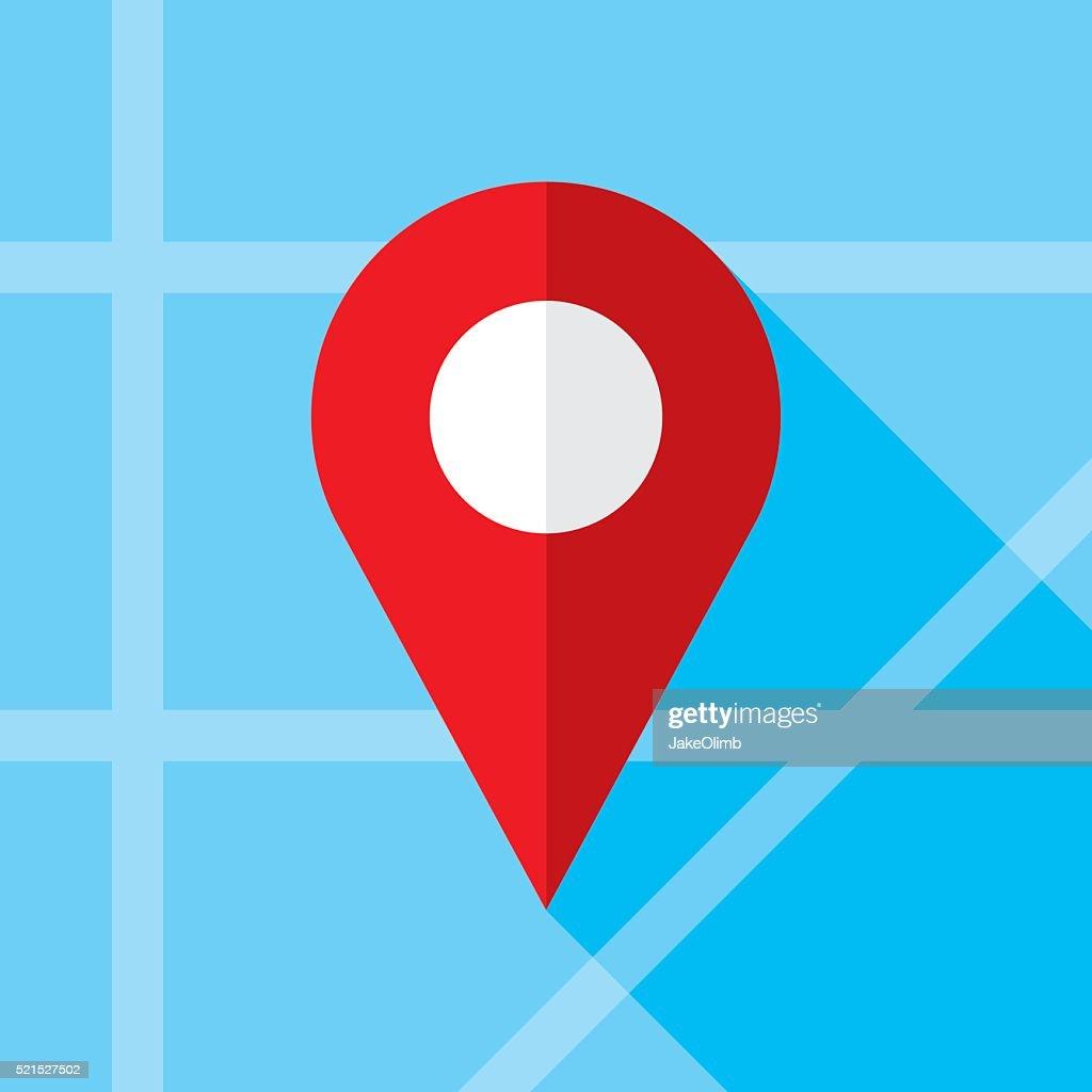 Location Marker Icon Flat
