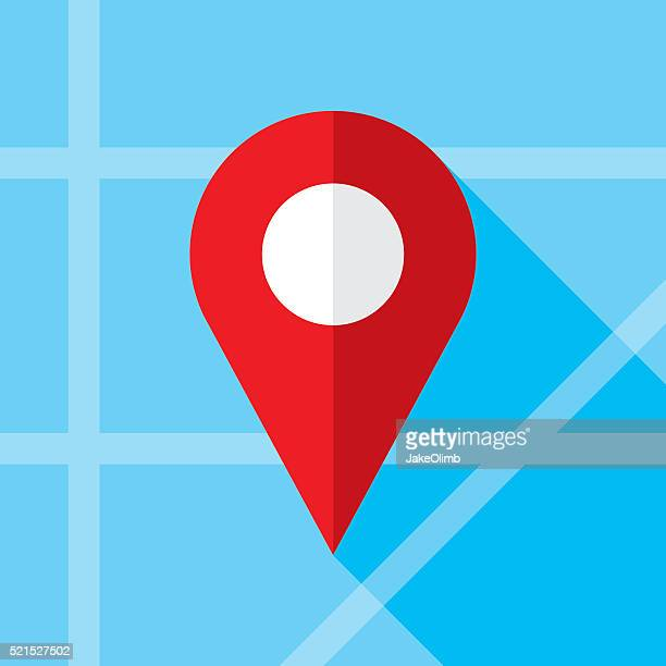 Location Marker Icon Flat