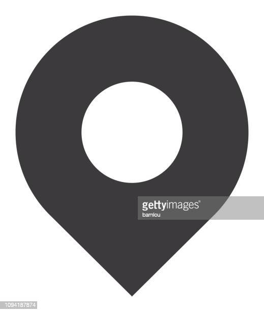 location pin icon - locator map stock illustrations
