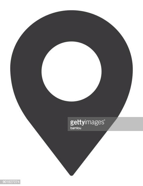 location pin icon - map stock illustrations