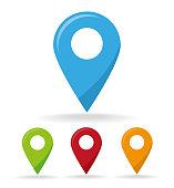 Location pin vector icon
