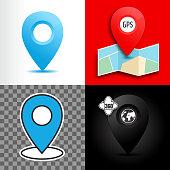 location sign isolated minimal flat design