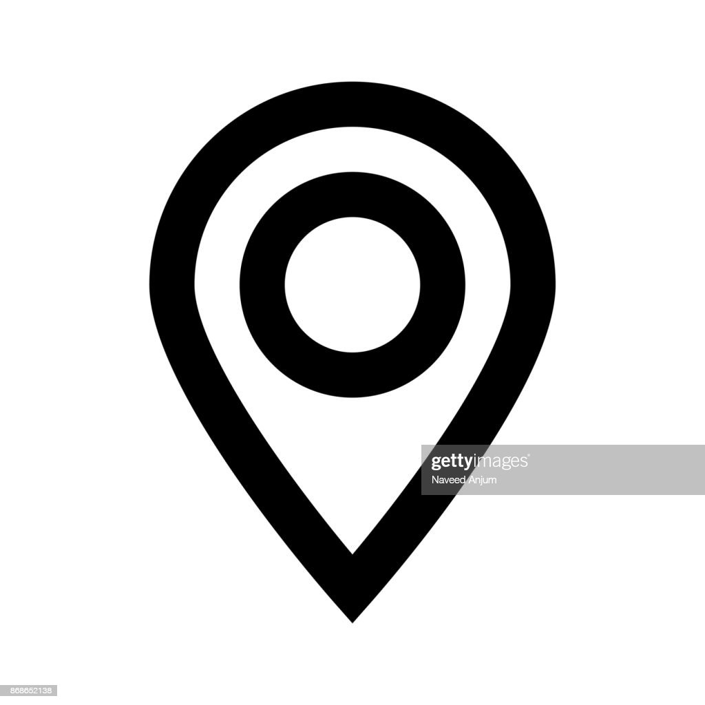 location thin line vector icon