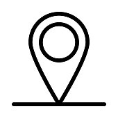 Location Thin Line Vector Icons