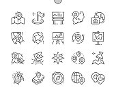 Location Well-crafted Pixel Perfect Vector Thin Line Icons 30 2x Grid for Web Graphics and Apps. Simple Minimal Pictogram