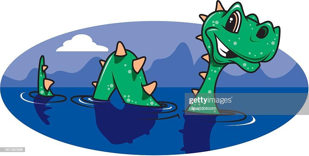 Loch Ness Monster : Ilustración de stock