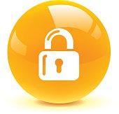 lock button icon web