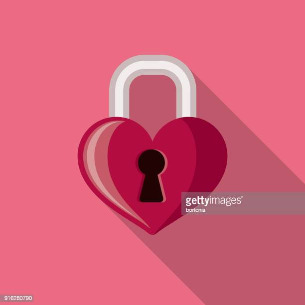 Lock Flat Design Valentine's Day Romance Icon