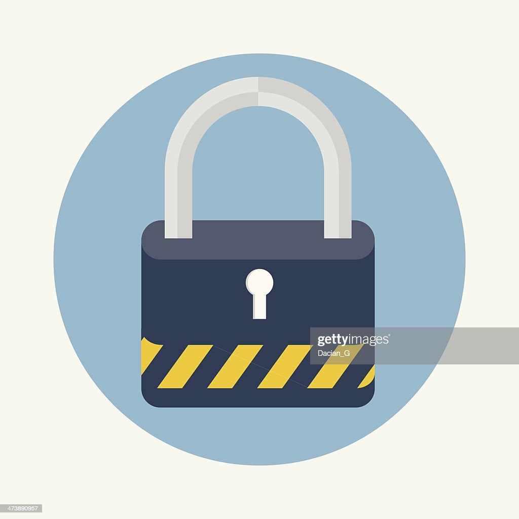 Lock flat icon