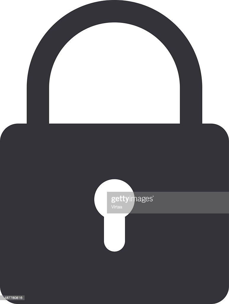 Lock icon, modern minimal flat design style. Padlock vector illustration