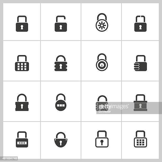 Lock icon set