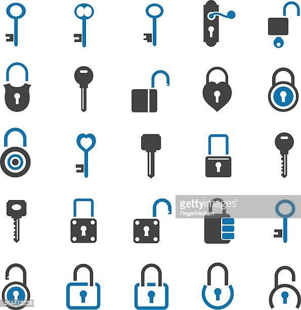 Conjunto de ícone de bloqueio