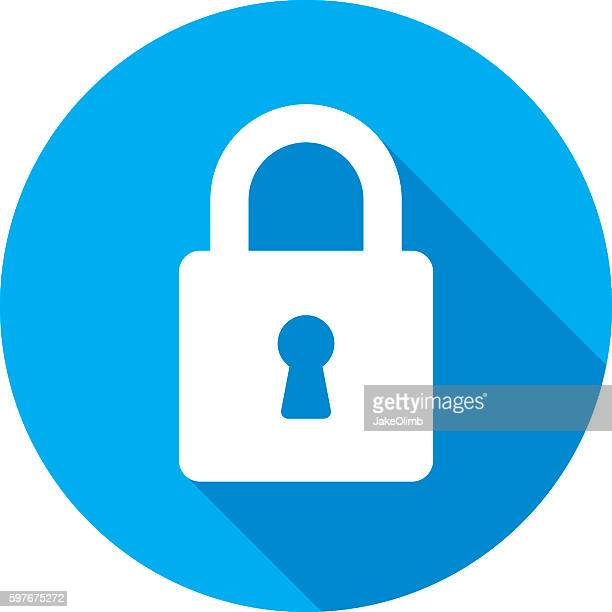 lock icon silhouette - lock stock illustrations