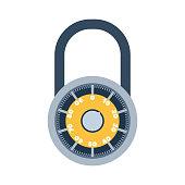 Lock icon vector.