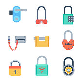 Lock icons set vector.