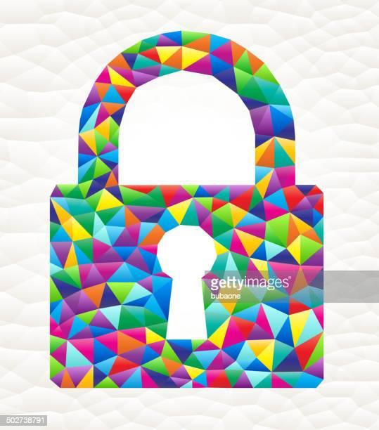 lock on triangular pattern mosaic royalty free vector art - free mosaic patterns stock illustrations