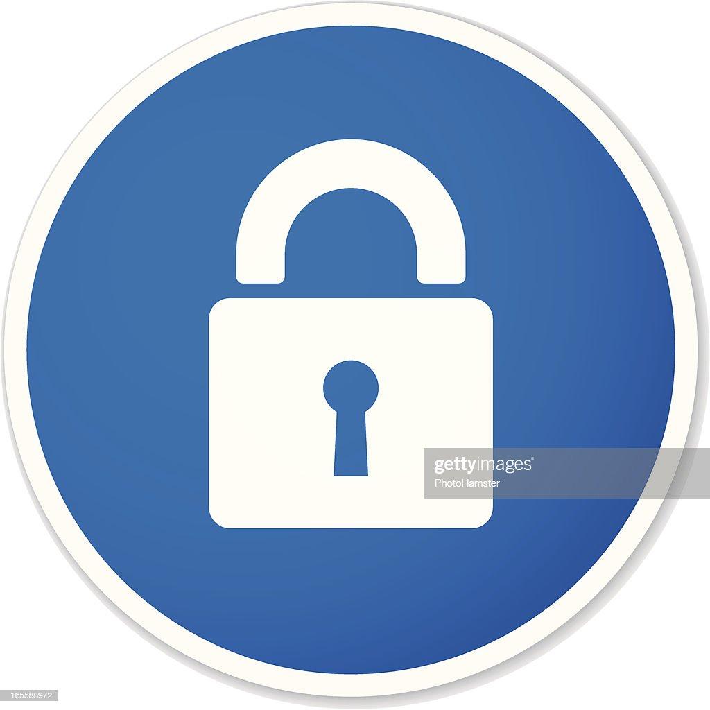 lock round sticker
