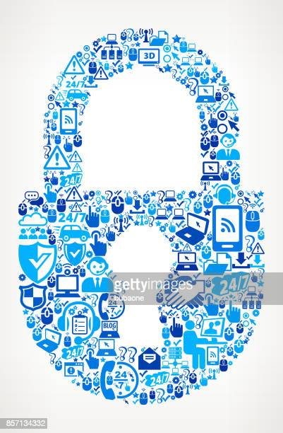Lock  Tech Support Vector Icon Pattern