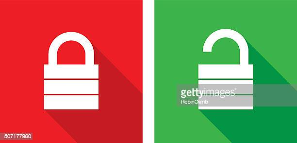 lock unlock icons - closed stock illustrations, clip art, cartoons, & icons