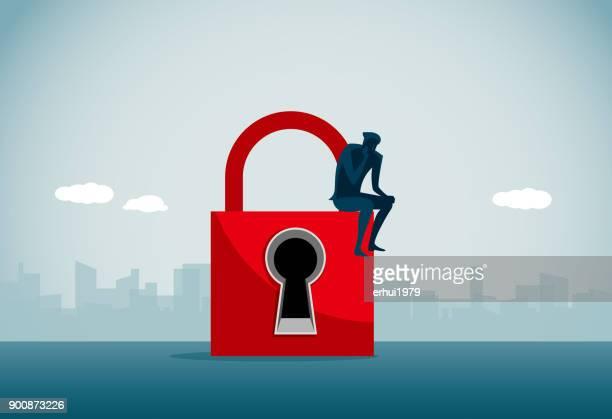 lock - forbidden stock illustrations