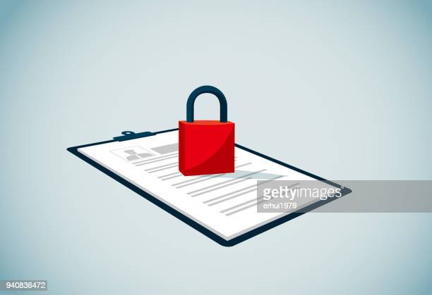 lock - confidential stock illustrations, clip art, cartoons, & icons