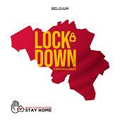 lockdown concept belgium map wuhan coronavirus