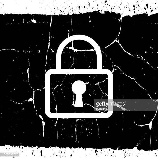 ilustraciones, imágenes clip art, dibujos animados e iconos de stock de icono de candado cerrado - ojo de cerradura
