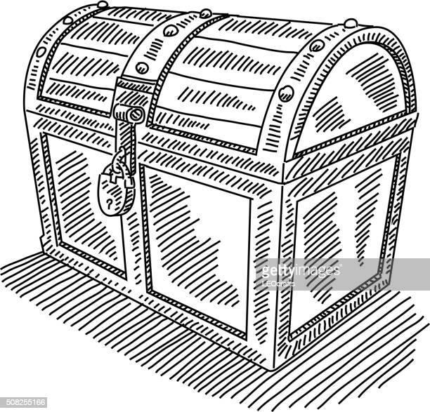 Bloqueado Arca de Tesouro de desenho