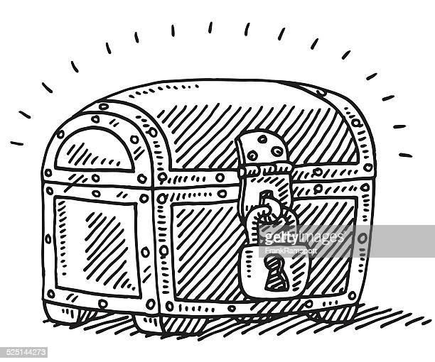 Bloqueado Arca de Tesouro incerteza desenho