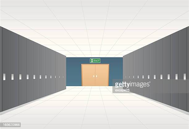 locker room - corridor stock illustrations, clip art, cartoons, & icons
