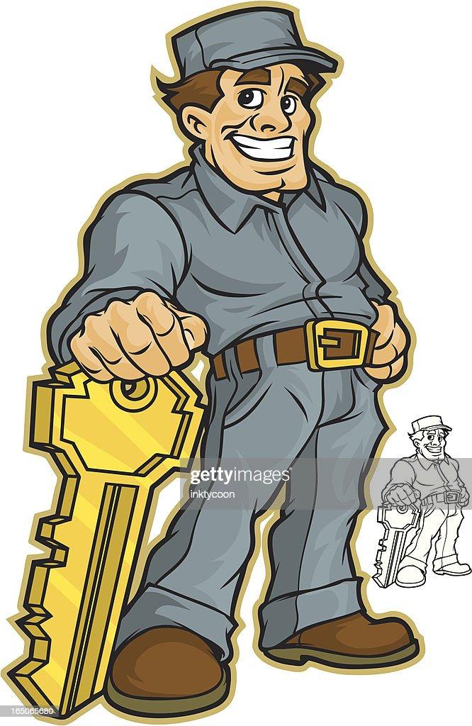 Locksmith : stock illustration